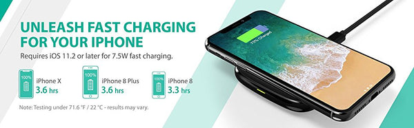 RAVPower Singapore/Gadget King Pte. Ltd. - 10 Watts Fast Wireless Charging Pad (RP-PC066)