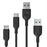 2-Pack USB-A to Type-C Cables (White/Black) [RAVPower RP-CB008]-Cables-RAVPower-Black-Gadget King Pte. Ltd.