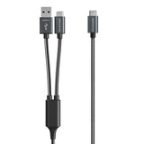 RAVPOWER 2-in-1 Type-C to USB-A/Type-C Tough Cable [RP-TPC006]