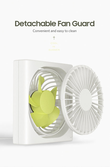 [Benks] USB Desktop Air Circulation Fan strong wind with 3 settings mode adjustment. (F15)