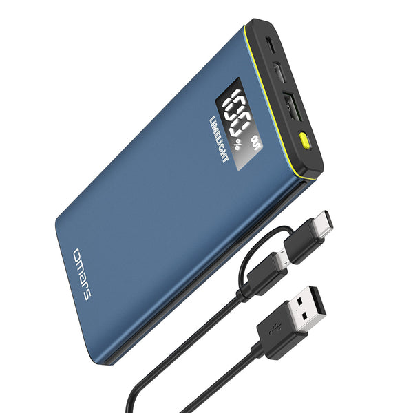[Omars] 10000mAh Portable PD Power Bank, USB-C With PD 18W & USB-A Support 18W Fast Charging Protocol