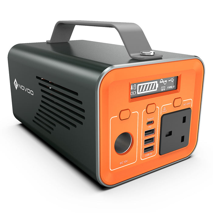 62400mAh Power Station with 200Watts AC Outlet and 60Watts Power Delivery input/out