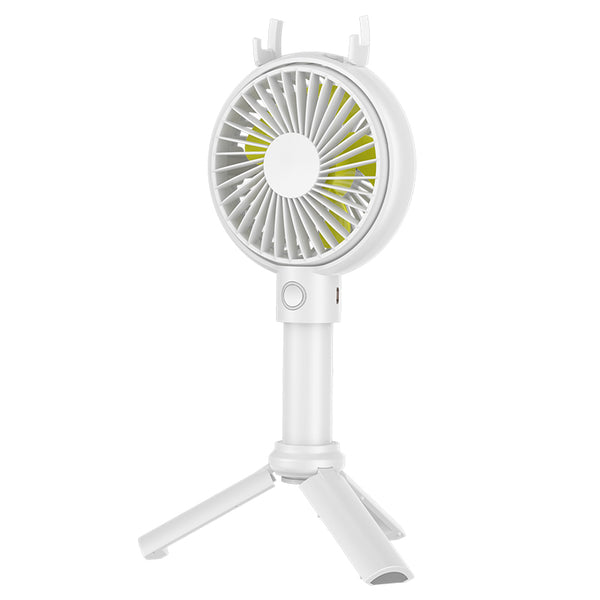 [Benks] 2000mAh Capacity Powerful Handheld multifunctional lightweight small fan suitable for all ages (F12)