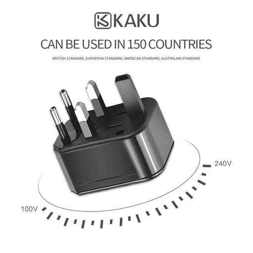 [KAKU] 3 in 1 Portable Universal Charger 100-250v wide frequency voltage suitable for Uk/Europe/USA/US,AUS plugs