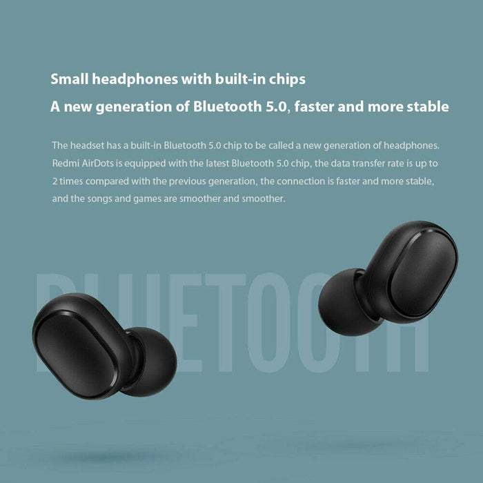 Redmi AirDots Earphone Bluetooth Headset 5.0 TWS True Wireless Stereo