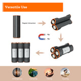 [Novoo] Mag Light Rechargeable Emergency LED Flashlight & 2500mAh External Backup Battery Charger (3-in-1 Bundle)