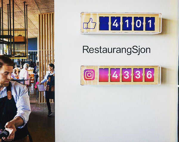 Real-time 5-Digit Instagram Follower Counter by Smiirl