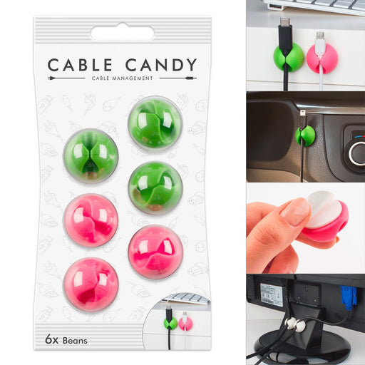 Cord Management & Cable Organizer (6X Beans ) By CABLE CANDY