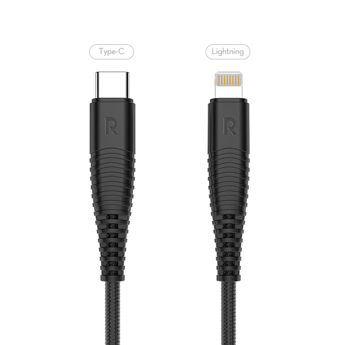 (3.3ft/1m) Usb Cable with Type C to Lightning Connector [RP-CB020]