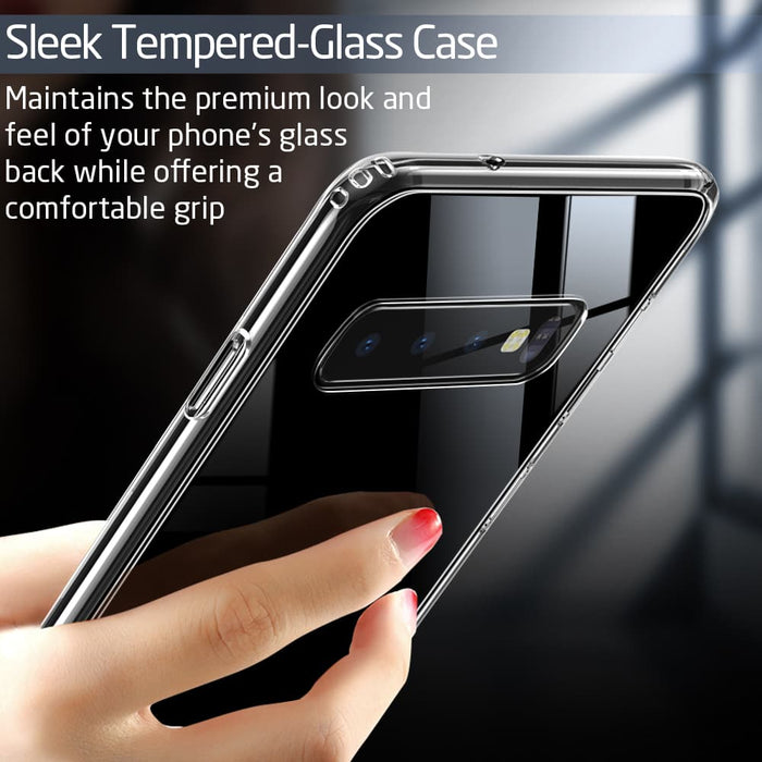 Galaxy S10 Mimic Tempered Glass Case-Case-ESR-Gadget King Pte. Ltd.