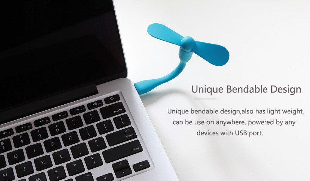 [Xiaomi] Portable Flexible USB Mini Fan, Compatible With Any USB Port, Lightweight Portable Removable, Detachable High-Grade Silicone Material, Environmentally Safe