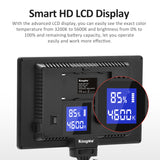 [KingMa] Ultra Bright Spot / Soft Light with SMD LED Beads with Smart HD LCD Display Suitable For Live Streaming, Photoshoot, Product Shoots, etc - Background Light, Spotlight