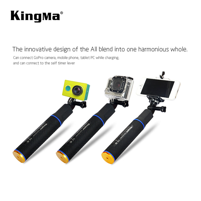 Selfie power grip 5200mAh built-in power bank for action camera [BMGP198]