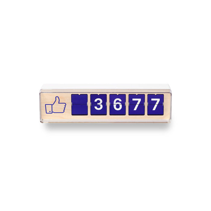 Real-time 5-Digit Facebook Like Counter by Smiirl
