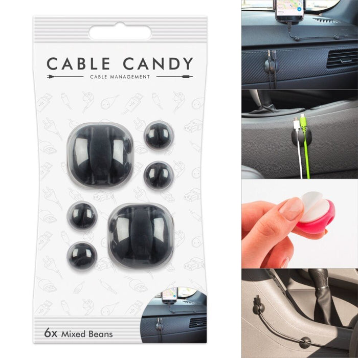Cord Management & Cable Organizer (Mixed Size Beans X 6 ) By CABLE CANDY