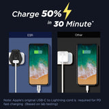 ESR 18W Power Delivery Type-C + 18W Qualcomm Quick Charge 3.0 USB Wall Charger-Charger-ESR-Gadget King Pte. Ltd.