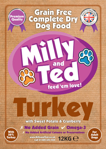 Turkey with Sweet Potato and Cranberry – Grain Free