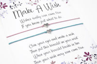 Pair of Silver Heart Wish Bracelets - Set of 2 Friendship Bracelets - Choice of Colours.