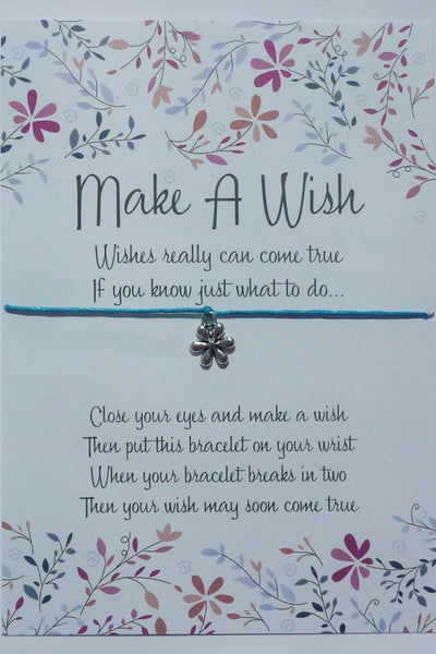 Wish Bracelet - Daisy Flower Charm. Friendship Bracelet. Hippie Daisy. Choice of Colours