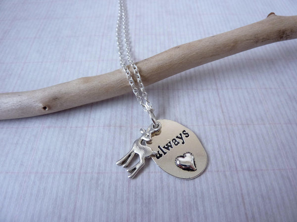 Always Doe Pendant Necklace - Snape & Lily Petronas Love Necklace