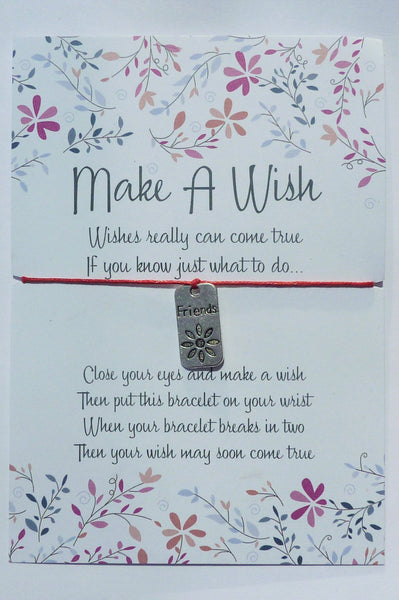 Wish Bracelet - Friends Tag. Charm Bracelet. Friendship Bracelet. Choice of Colours
