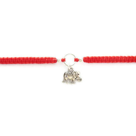 Elephant Bracelet - Lucky Elephant Macrame Charm Bracelet. Friendship Bracelet. Stacking Bracelet. Choice of Colours.