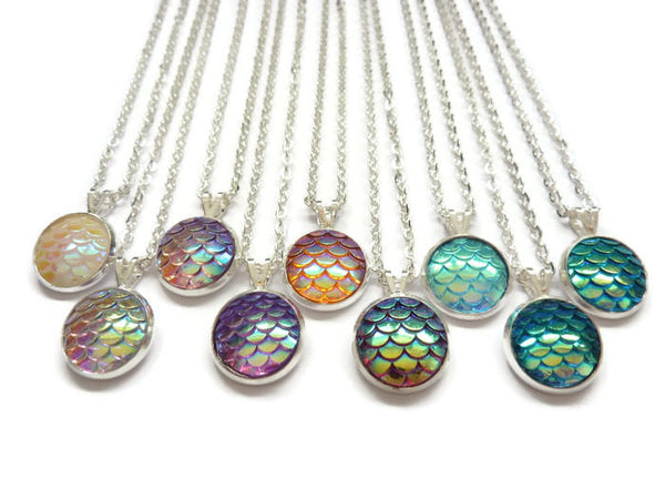 Mermaid Necklace - Mermaid Tail Necklace. Choice of Colours.