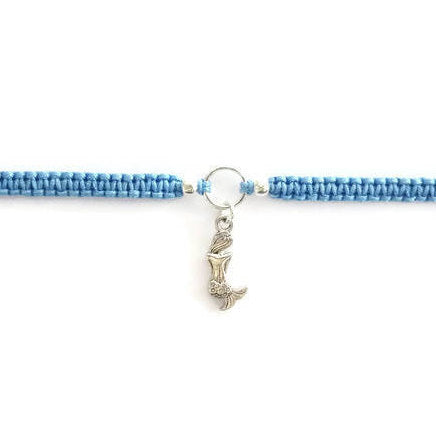 Mermaid Bracelet - Macrame Bracelet. Mermaid Charm Friendship Bracelet. Choice of Colours.