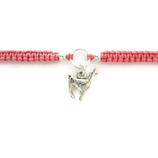 Llama Bracelet - Macrame Bracelet. Llama Charm Friendship Bracelet. Choice of Colours.