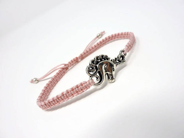 Unicorn Bracelet - Macrame Friendship Bracelet. Choice of Colours