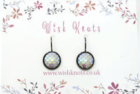Mermaid Scale Earrings - Lever Back Earrings. Gunmetal Black Drop Earrings. Choice of Colours.