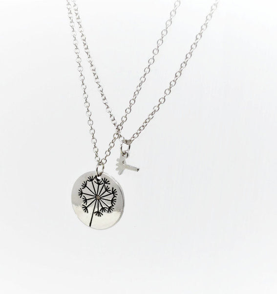 Mother & Daughter Necklace Set - Dandelion Clock Necklaces. Choice of Length