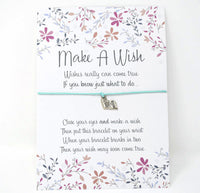 Wish Bracelet - ABC Book Charm. End of Term Teacher Gift. String Bracelet. Choice of Colours