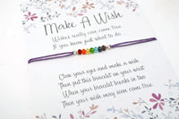 Rainbow Wish Bracelet - Choose Gay Pride or Chakra Bracelet. String Bracelet. Choice of Colours