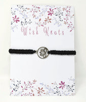 Lotus Flower Macrame Bracelet - Lotus Blossom Meditation Bracelet. Choice of Colours