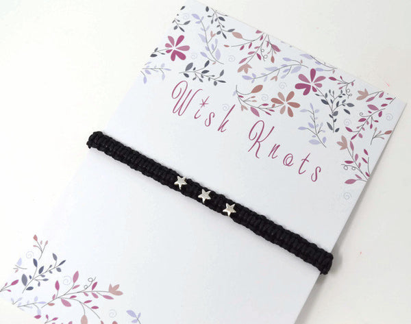 Star Bracelet - Macrame Bracelet. Stars Friendship Bracelet. Choice of Colours