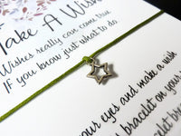 Wish Bracelet - Star Charm Bracelet. Tiny Star Bracelet. Choice of Colours
