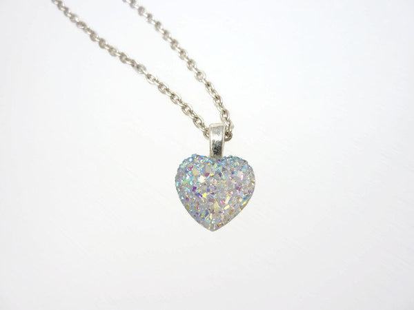 Opal Heart Necklace - Bridesmaid Necklace. Be My Bridesmaid.