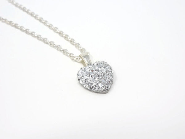 Silver Heart Necklace - Bridesmaid Necklace. Be My Bridesmaid.