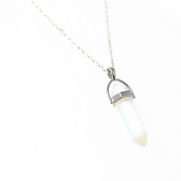 Opalite Gemstone Point Necklace - Choose Length