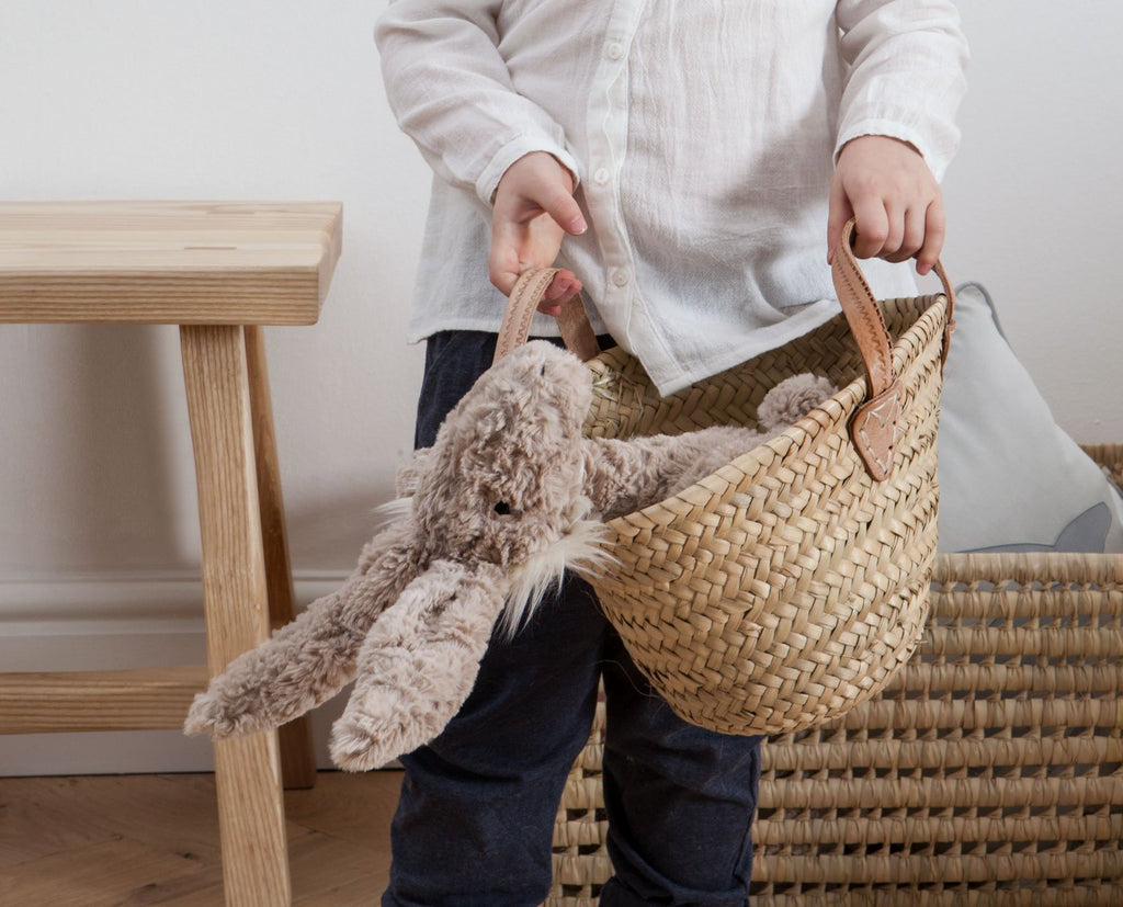 Leather Handled Mini Kids Basket