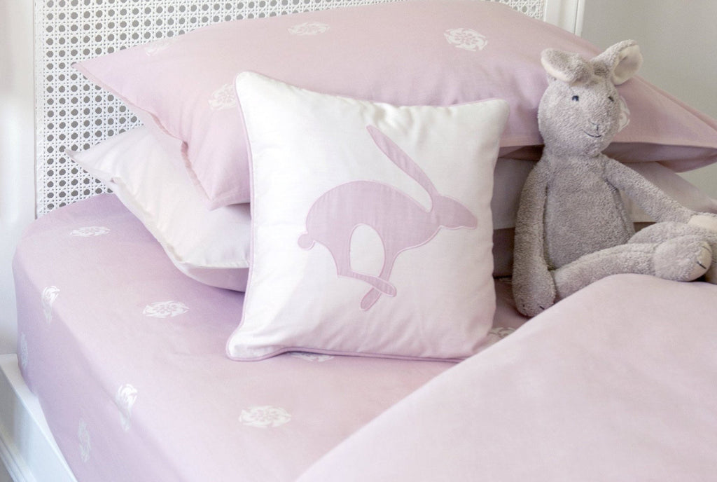 Hare Flower Dusty Pink Reversible Fitted Sheet