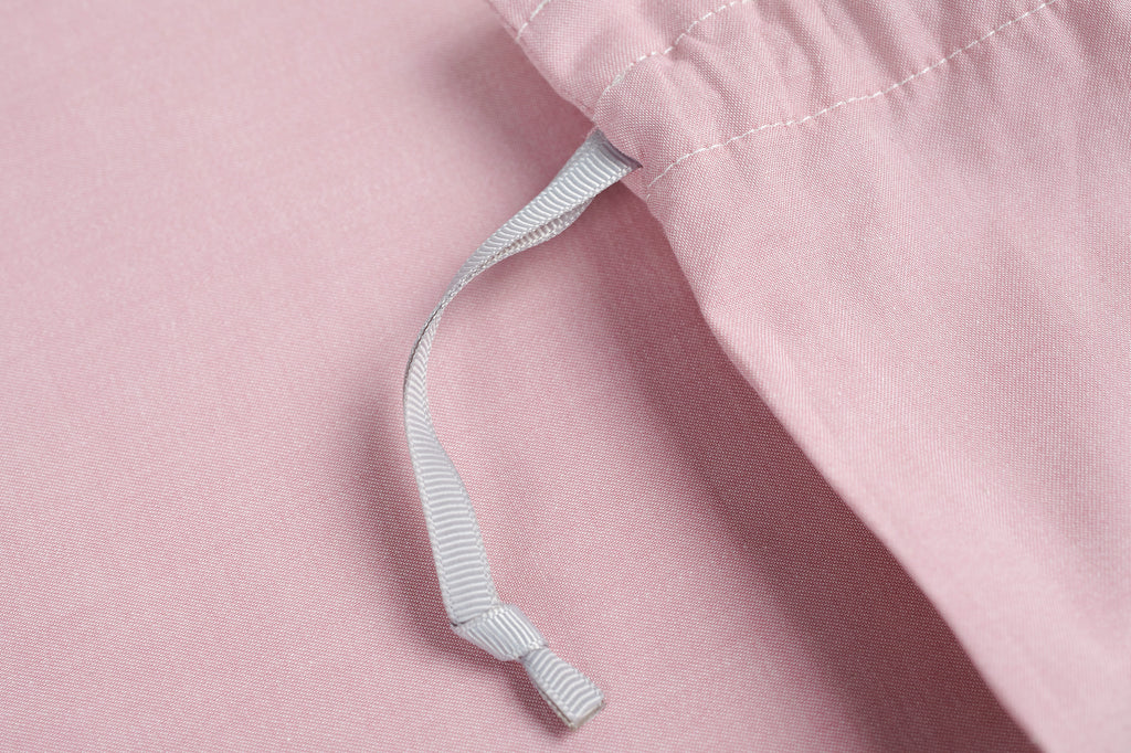 Plain Jacquard Reversible Dusty Pink Duvet Cover