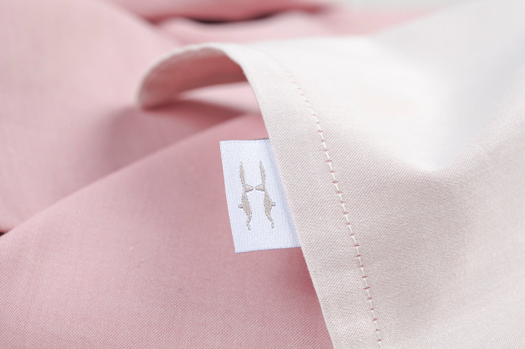 Plain Jacquard Dusty Pink Light Pillowcase