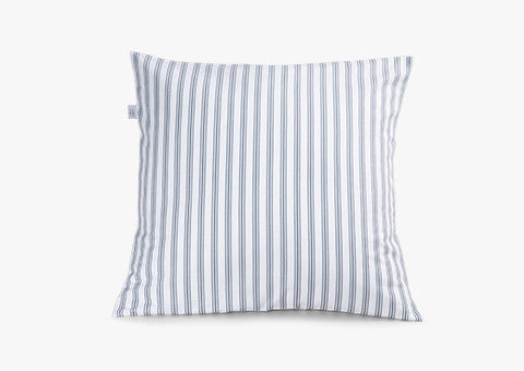 Ticking Stripe Blue-Grey Cushion