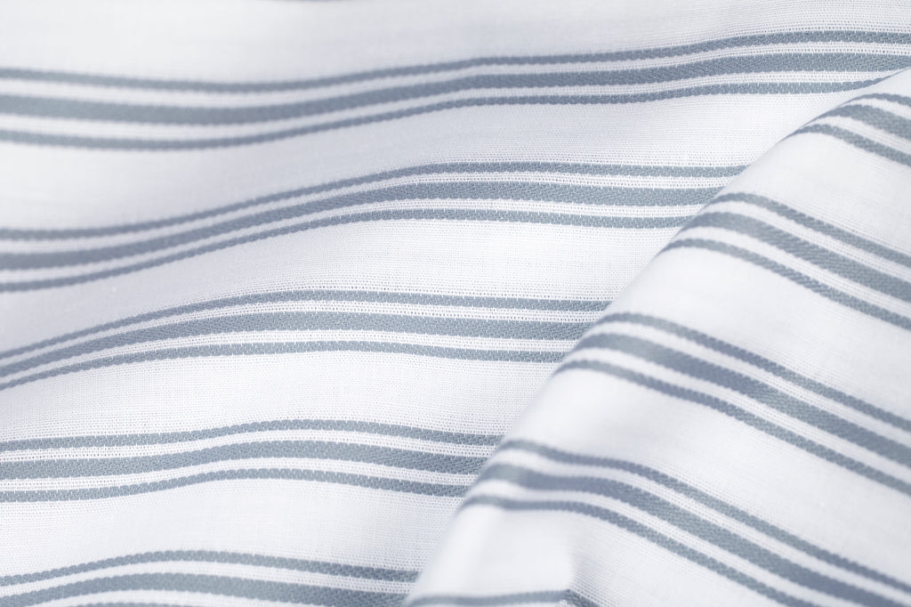 Ticking Stripe Blue-Grey Duvet Cover