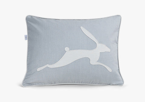 Running Hare Blue-Grey Dark Cushion