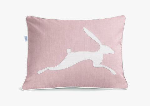 Running Hare Dusty Pink Dark Cushion