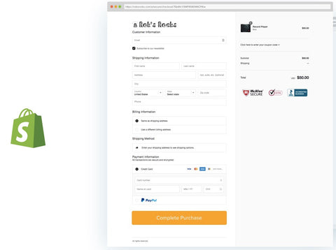 Shopify onepage checkout