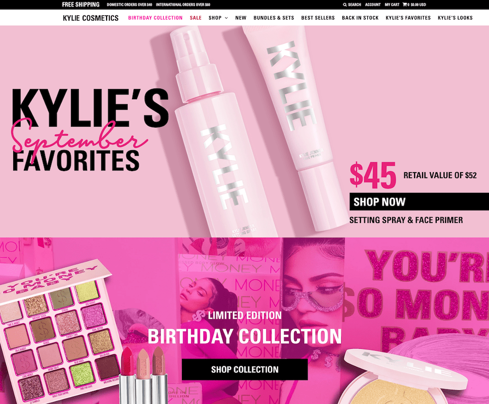 Kylie Cosmetics Shopify Plus OHDIGITAL